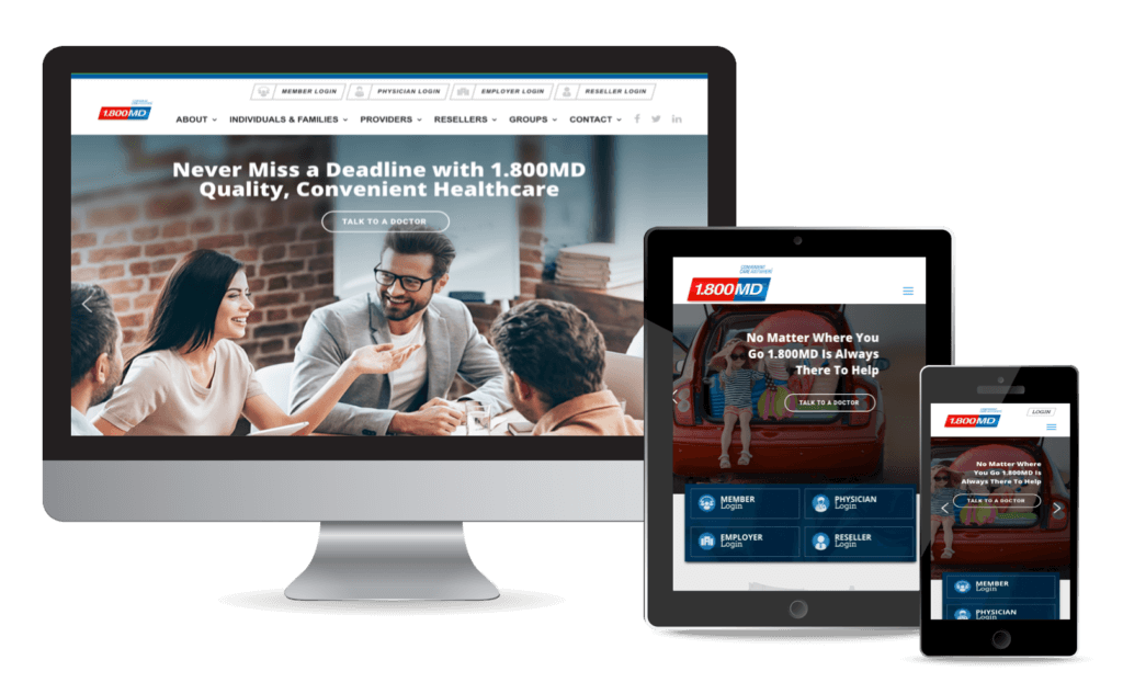 1800MD now has a responsive website design by Greenstone Media