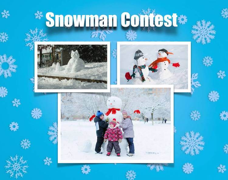 Asheville Snowman - contest in 2017 held in asheville north carolina
