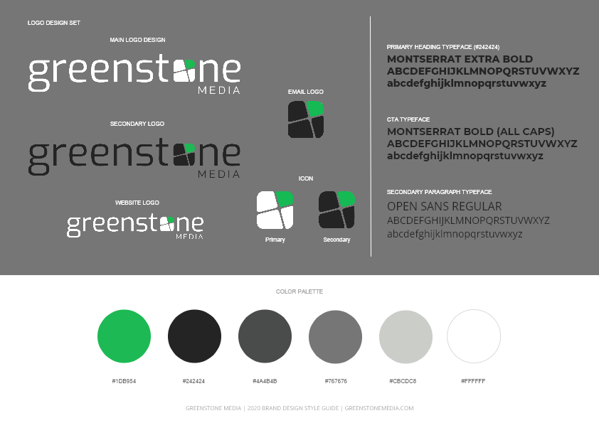 Brand Style Guide Greenstone Media