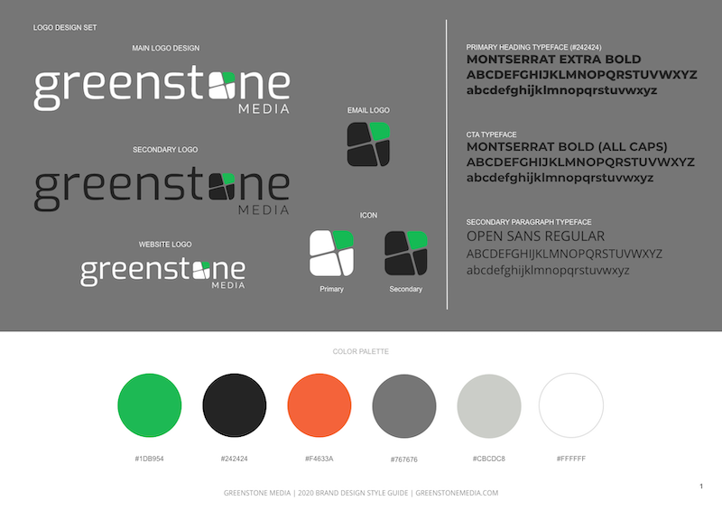 Brand Style Guidelines Greenstone Media