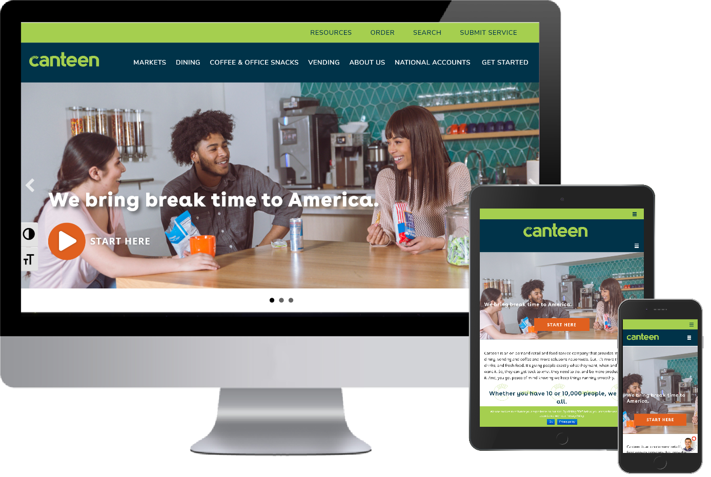 Canteen now has a responsive mobile website from Greenstone Media