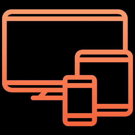 Computer icon orange gradient Copy