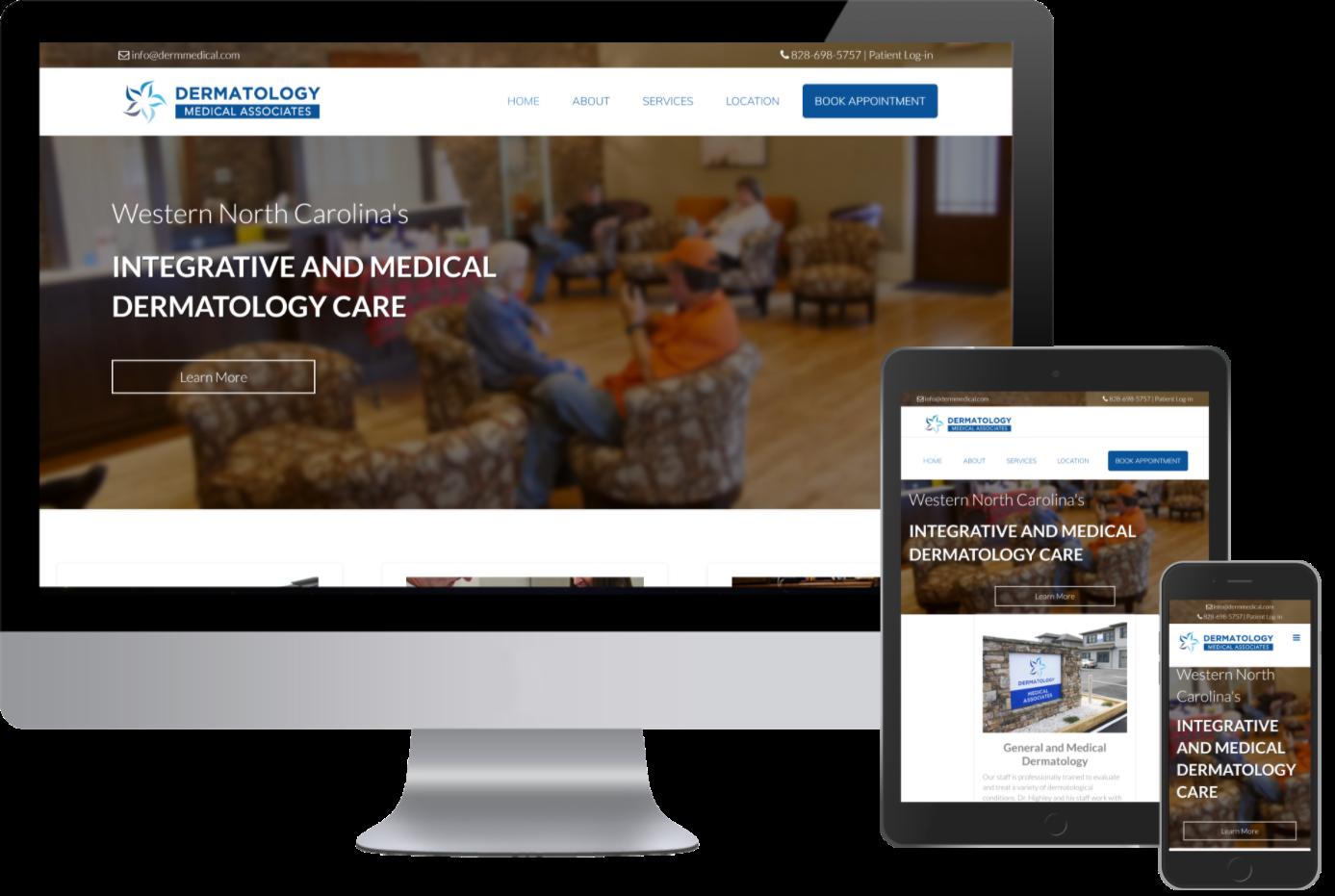 Dermatology Medical Associates now has a Responsive website