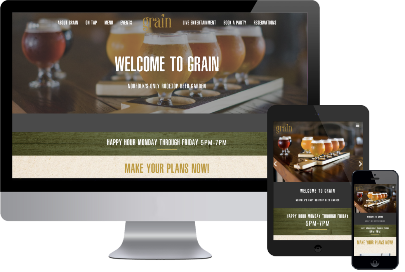 Grain now has a responsive website that Greenstone made for them