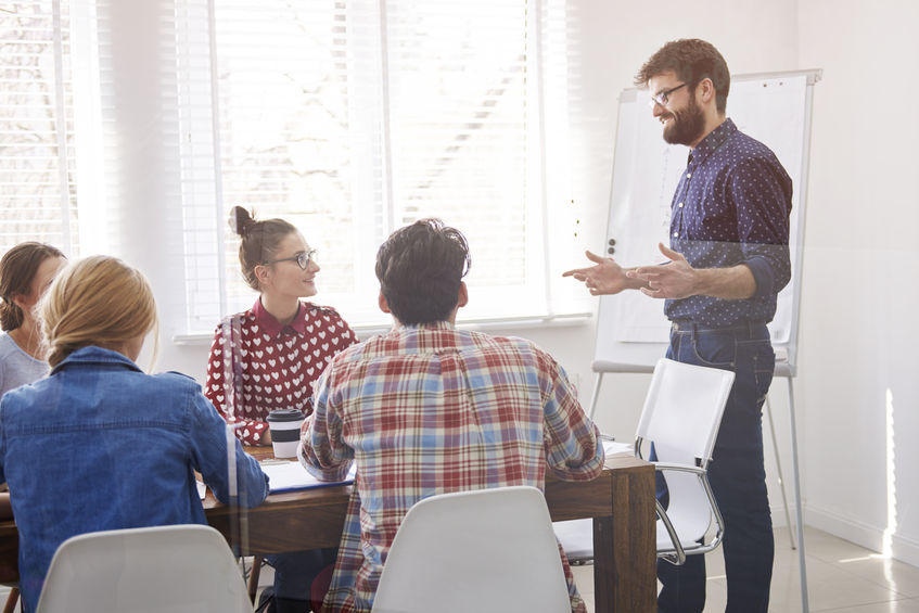 38888548 - team members having business meeting session together