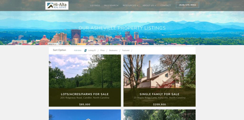 Hi Alta listing page - After