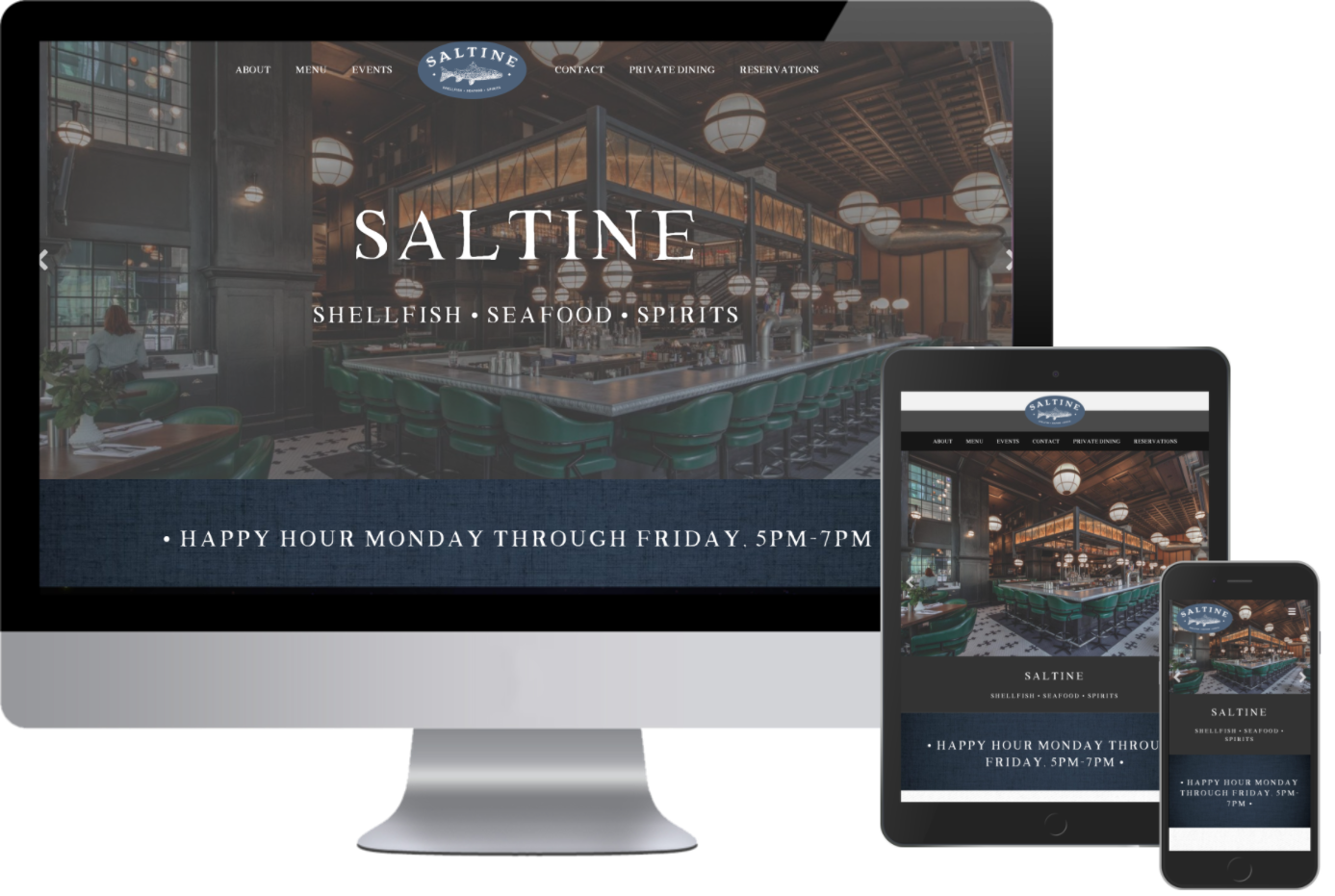 Saltine now has a Responsive Designed Website made by Greenstone Media