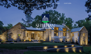 Sheehan Built Homes home page - After