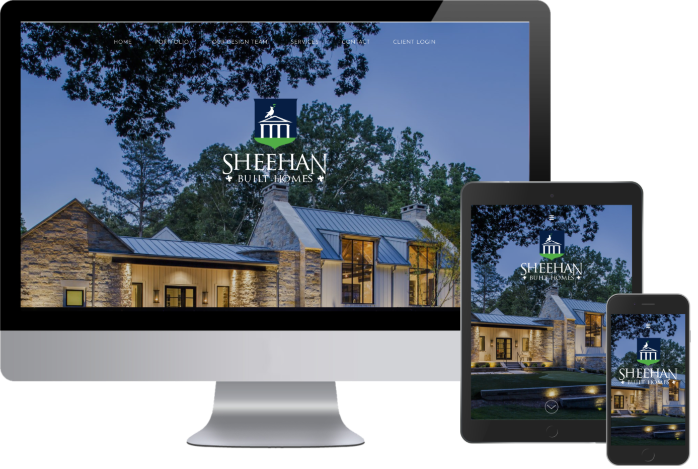 Sheehan Built Homes now have a responsive website design from Greenstone Media