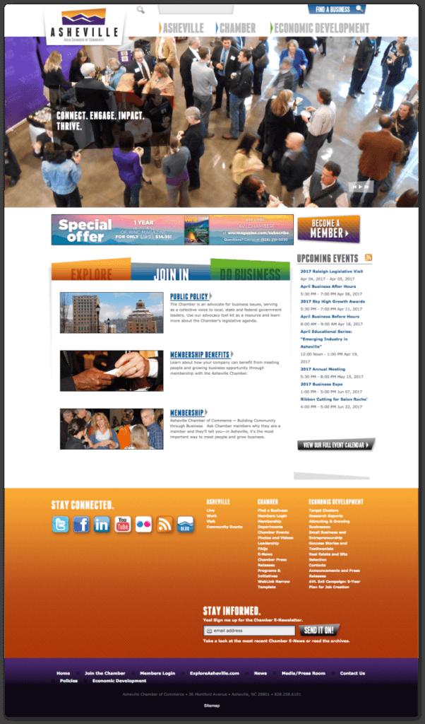 Asheville Chamber Web Design